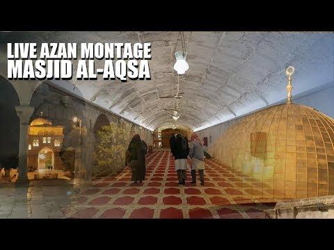 Beautiful Azan Montage from al-Aqsa | Jerusalem | Palestine