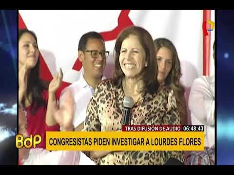 Lourdes Flores: piden investigarla tras difusión de audio con aspirante a colaborador eficaz