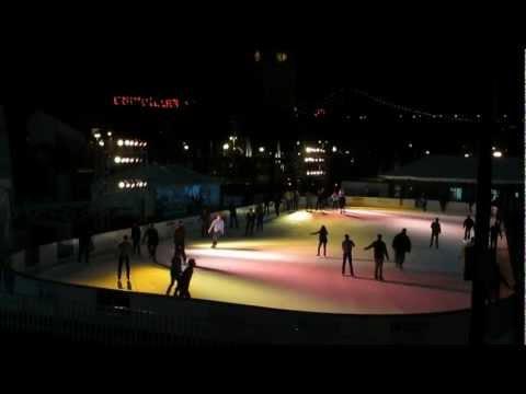 Embarcadero Center Holiday Ice Rink Justin Herman Plaza San Francisco California December 2012