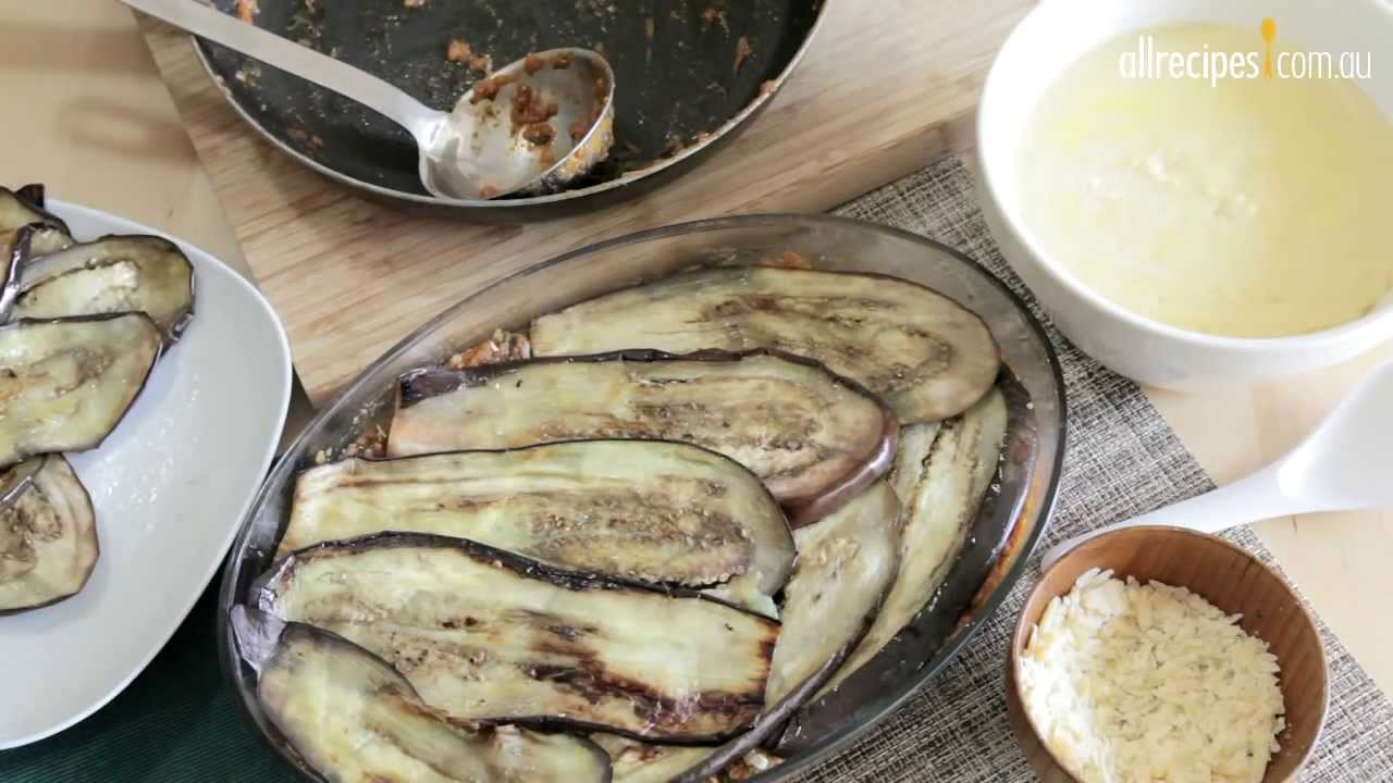 how to cook eggplant for moussaka