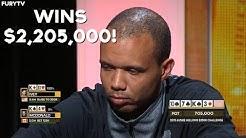 Phil Ivey Runs Like A GOD And Wins $2,205,000!