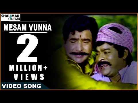 Sneham Kosam Movie ||  Mesam Vunna Video Song || Chiranjeevi,Meena