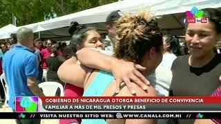 Gobierno de Nicaragua otorga beneficio de convivencia familiar a más de mil presos y presas