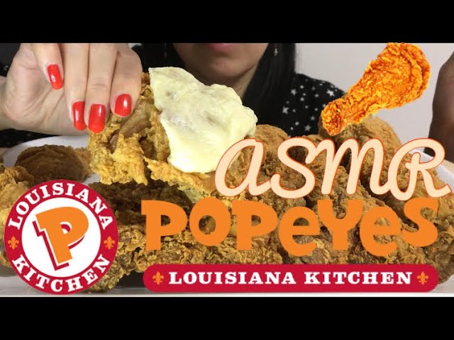 Asmr Fried Chicken Popeyes Savage Eating Extreme Messy Crunchy Crispy Eating Sounds