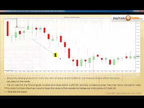 Trading Emini SP Price Action Filtering Video 3