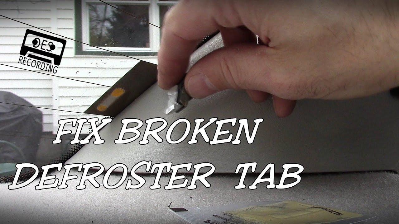 Fix Broken Defroster Tab Rear Window Saturn Sl2 Defogger Glue Solder Repair