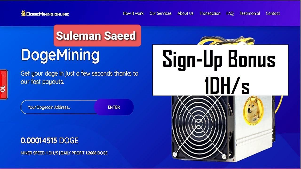 Dogemining.online | New Free Dogecoin Mining Site 2020