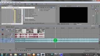 Sony Vegas  - Group and Re-Group Audio Video Tutorial