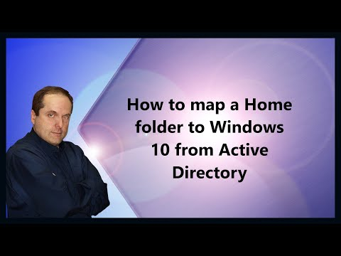 How to map a Home folder to Windows 10 from Active Directory
