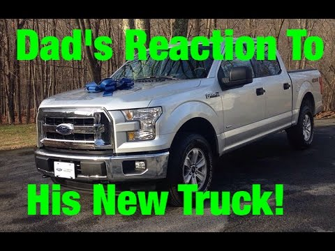 Surprising My Dad With A Brand New Truck For Christmas! Priceless Reaction!