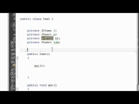Java Tutorial 11: GUI in Java, JFrame, JPanel, JButton, JLabel