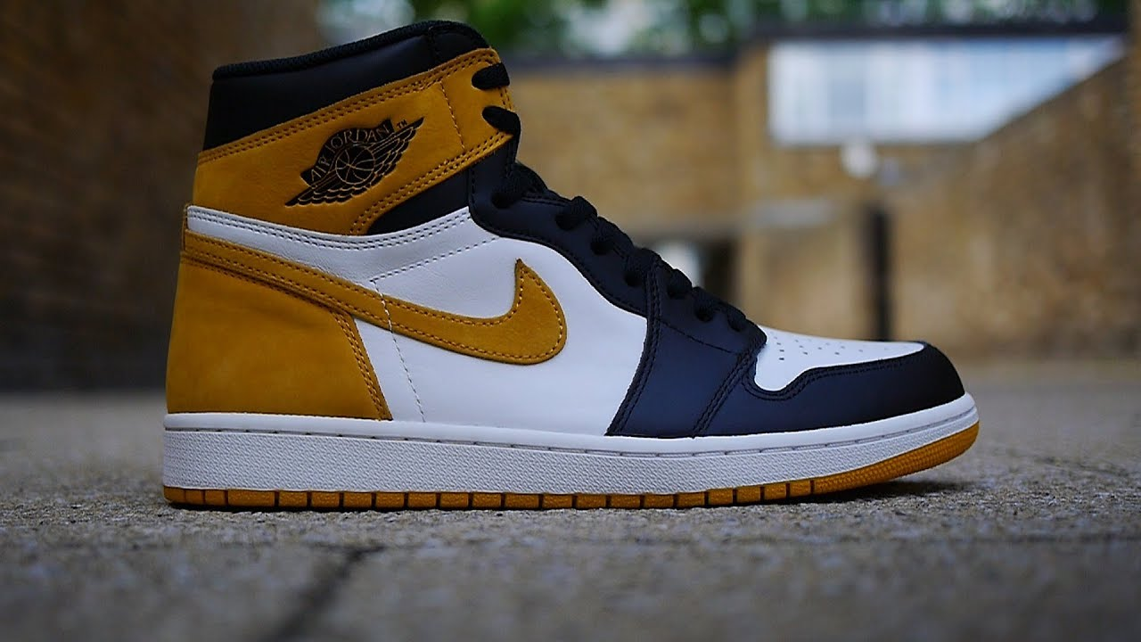 Air Jordan 1  Best Hand In The Game  Yellow Ochre Quick Look - YouTube 8a83331ea