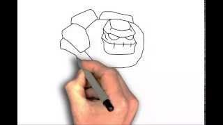 How to draw Golem from Clash of Clans - drawing tutorial step by step easy
