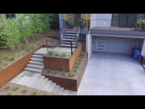 Edina Project, corten steel walls and bluestone