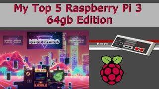 My Top 5 Raspberry Pi 64gb Retro Gaming Images - 8,095 Games + KODI