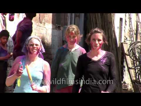 Foreigners play Holi or get molested on the streets of Jodhpur