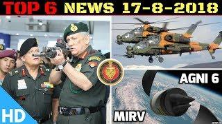Indian Defence Updates MoD Shortlists 3 Rifles for Army,AGNI 6 Development,Turkey PAK T 129 Stuck