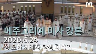 메주고리예 미사 강론 (2020.6.24 수)