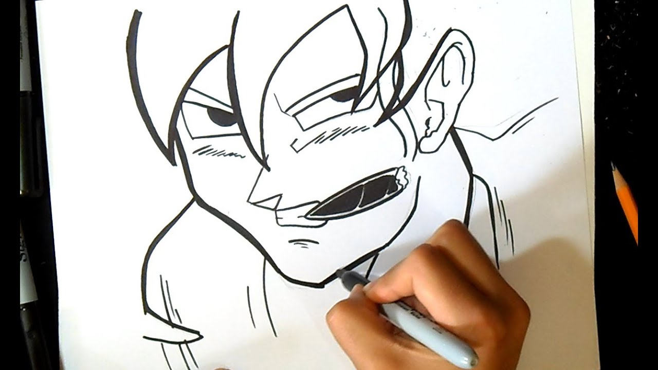 Goku con Cigarro Graffiti  YouTube