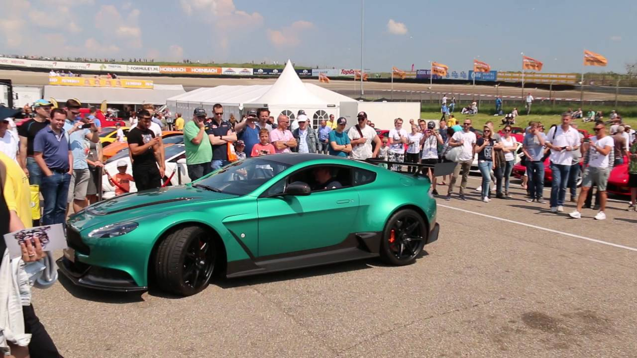 British Racing Green Aston Martin Vantage Gt12 Revving Lovely Sounds Youtube