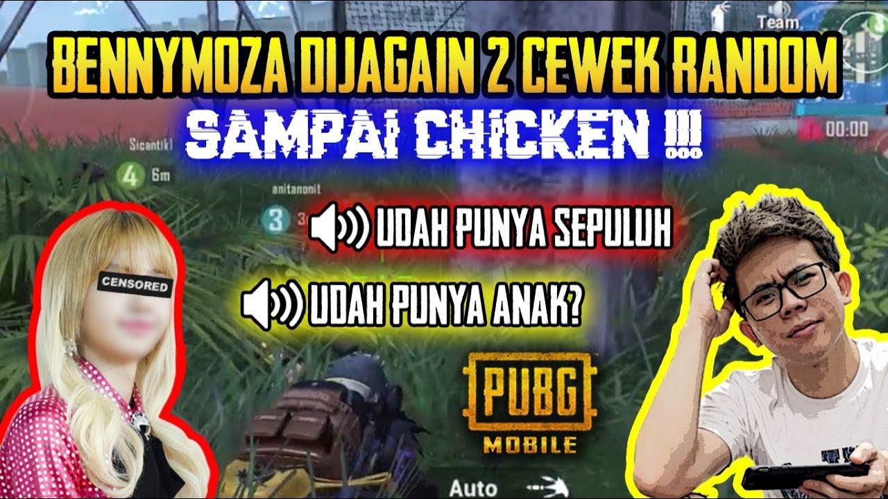 BENNYMOZA DI JAGAIN 2 CEWEK RANDOM SAMPE CHICKEN ?! ASLI KOCAK ABIS !!! - PUBG MOBILE INDONESIA