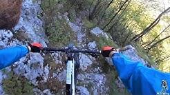 Bovec Kanin (serious) downhill trail highlights (360 cam)