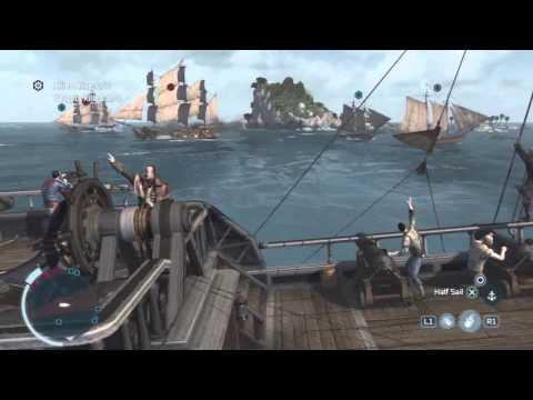 Assassin's Creed 3 - Privateer Mission 'The Sea Wolves' Walkthrough [HD]