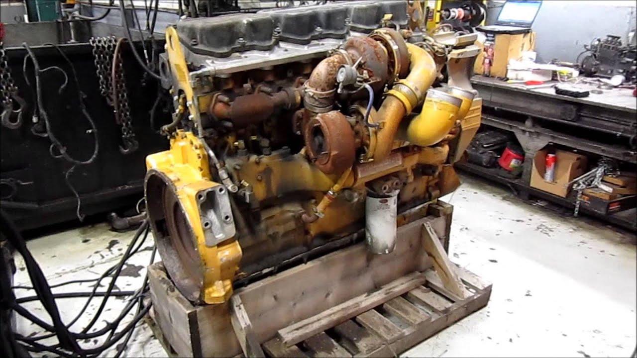 hight resolution of 2005 caterpillar c15 acert diesel engine running youtube