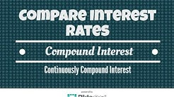 How To Compare Interest Rates.  Compound Interest Formula