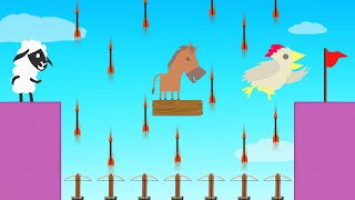 1000 ARROWS vs RUNNERS! (Ultimate Chicken Horse)
