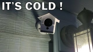 What happens when you use a Wyze camera outside in winter?