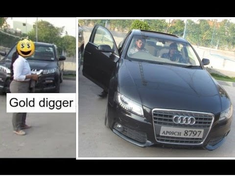 Gold digger prank in india with AUDI parody | HYDERABAD 2017
