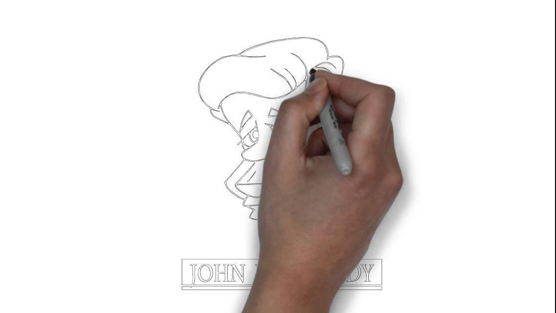 Cómo dibujar John F Kennedy - YouTube
