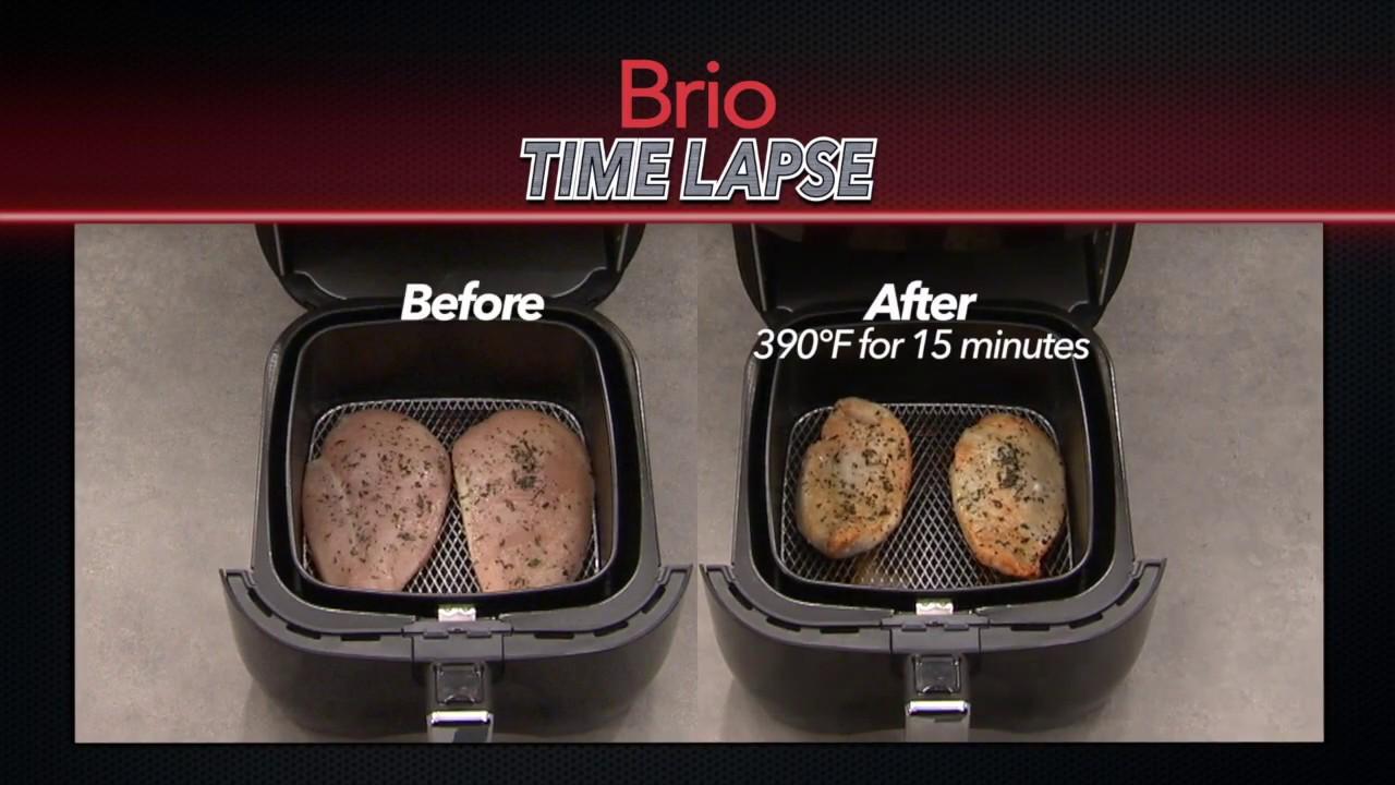 frozen chicken breasts - nuwave brio time lapse