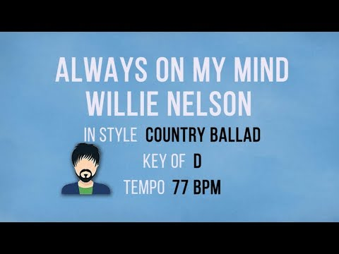 Always On My Mind - Willie Nelson - Karaoke Backing Track