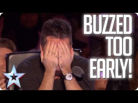 UH OH! When the Judges buzz TOO EARLY! | Britain's Got Talen