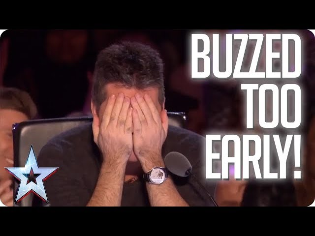 UH OH! When the Judges buzz TOO EARLY! | Britains Got Talent