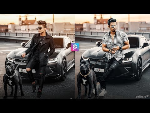 PicsArt Realistic Classic Boy With Car Photo Editing Tutorial Step by Step in Hindi thumbnail