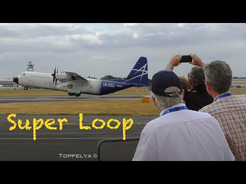 Hard to believe ! C-130 Short takeoff and Loop ! Fighter pilot inverted badass plane