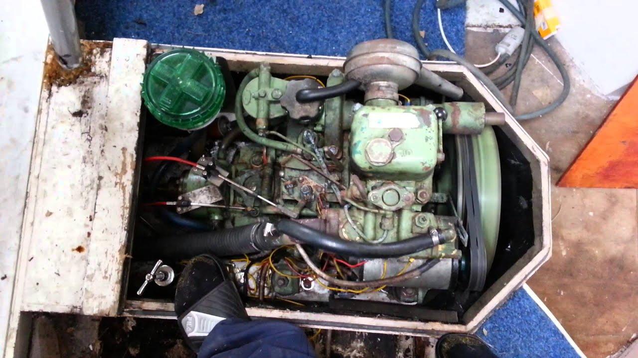 Volvo Penta MD1 1 Zylinder Diesel Tuckerboot - YouTube