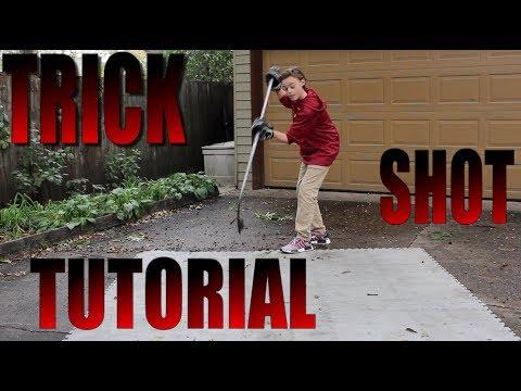 HOW TO DO HOCKEY TRICK SHOTS!