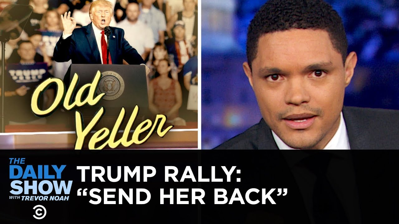 """Trump Supporters Chant """"Send Her Back"""" About Ilhan Omar 