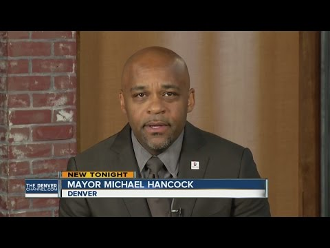 Denver Mayor Michael Hancock promises to keep city safe, welcoming