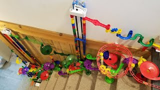 INSANE Marble Run UP THE STAIRS?!