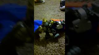 Nerf war jaws vs iron man and donkey kong nerf battle fight