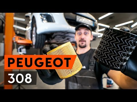 How to replace engine oil and oil filter on PEUGEOT 308 1 T7 (4A_, 4C_) [TUTORIAL AUTODOC]