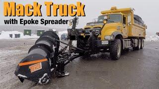 NEW Mack Granite Snow Plow with Epoke Salt Spreader