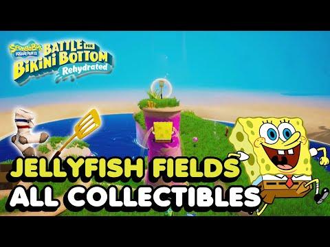 Jellyfish Fields - All Collectibles In Spongebob Squarepants Battle For Bikini Bottom Rehydrated