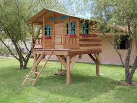 Como hacer una casa de madera para ni os youtube - Planos de casas de madera ...
