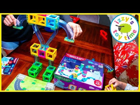 MAGNETIC STEM BLOCKS! Cars  With Magna Tiles!